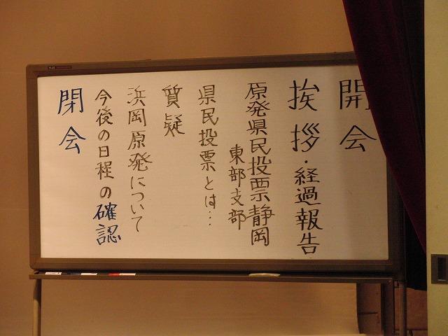 浜岡原発再稼動の是非を問う県民投票実現に向けたの説明会_f0141310_7535035.jpg