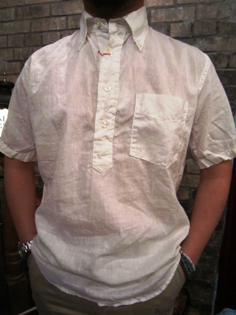 """SERO\"" COTTON LINEN WHITE P/O SHIRTS ご紹介 & お知らせ_f0191324_0212556.jpg"