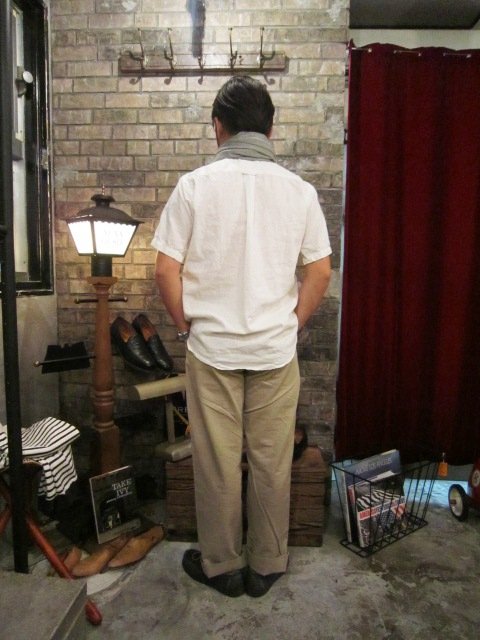"""SERO\"" COTTON LINEN WHITE P/O SHIRTS ご紹介 & お知らせ_f0191324_0214410.jpg"