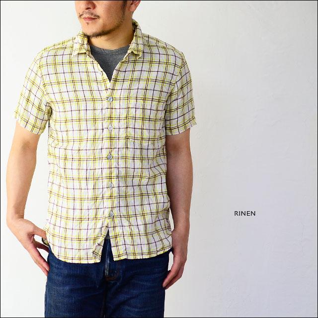 RINEN [リネン] 60/1リネンYELLOWチェックレギュラーカラーシャツ [39214] MEN\'S _f0051306_14181246.jpg