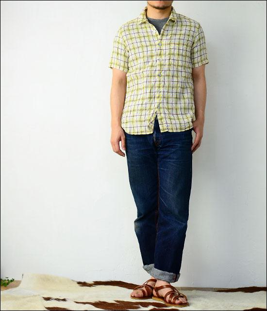 RINEN [リネン] 60/1リネンYELLOWチェックレギュラーカラーシャツ [39214] MEN\'S _f0051306_14181526.jpg