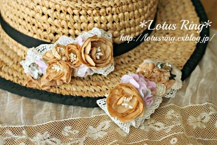 布花のバレッタ*_a0169912_1529395.jpg