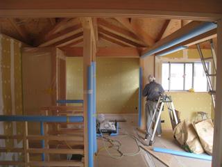 「清須の家」壁下地処理_b0179213_193292.jpg