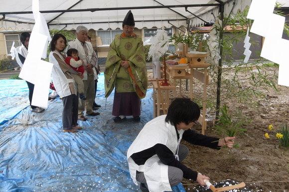 「ミンナノハコニワ」(松本市)・地鎮祭_c0116631_18314852.jpg