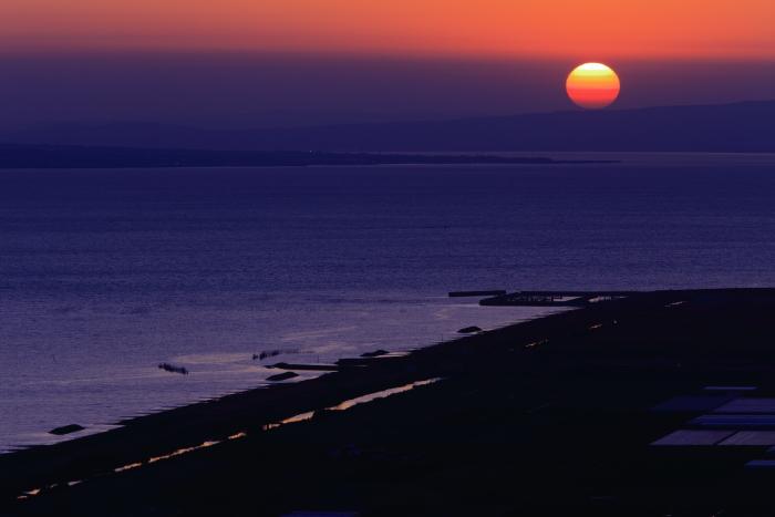 夕焼け空と夕陽_e0135098_549834.jpg