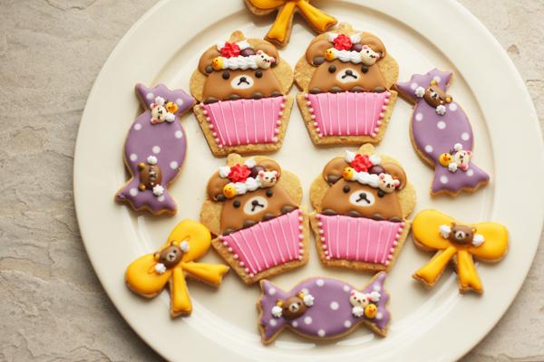 リラックマアイシングクッキーとワッフル_f0149855_16514591.jpg