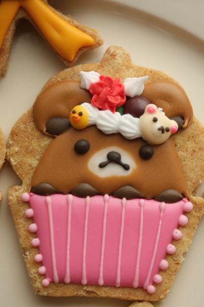 リラックマアイシングクッキーとワッフル_f0149855_1652171.jpg