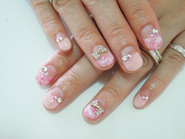 Pink Marble Nail_a0239065_12381250.jpg