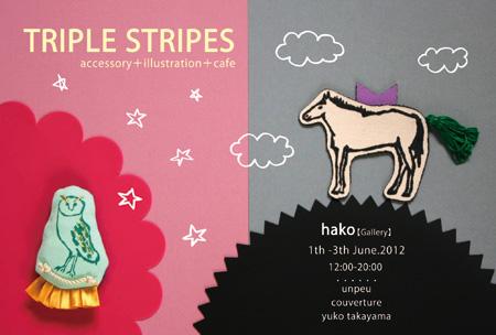 TRIPLE STRIPES 展のお知らせ☆_b0156360_1413938.jpg