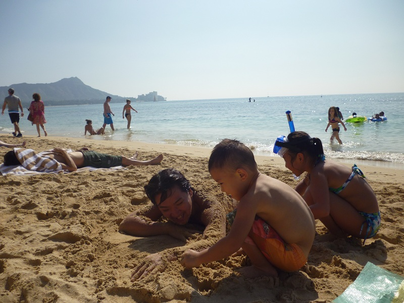 2011~12HAWAIIカウントダウン旅行記~アウトリガーリーフのプールとビーチ~_f0011498_160439.jpg