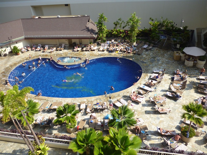2011~12HAWAIIカウントダウン旅行記~アウトリガーリーフのプールとビーチ~_f0011498_16153247.jpg