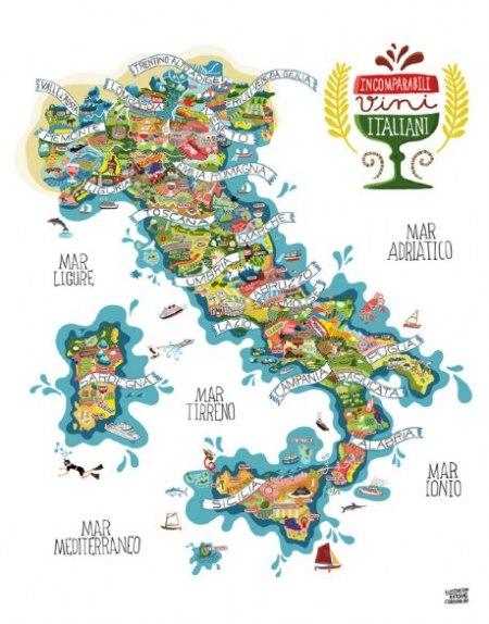 かわいいイタリア地図 バゥ_d0084229_8192611.jpg