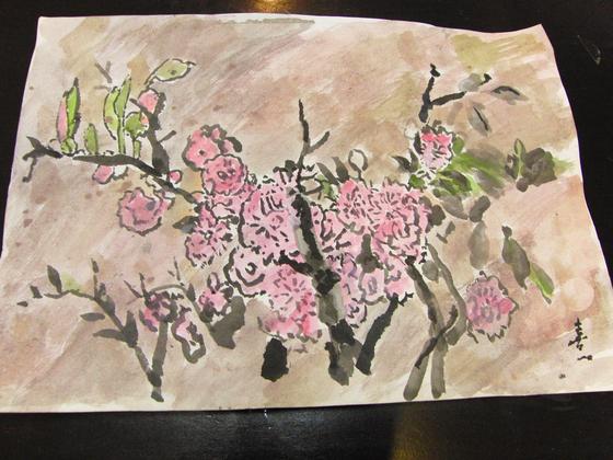 水彩画 ~ 八重桜 ~_e0222340_743199.jpg