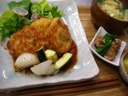 4/27晩ごはん:鶏胸肉のチーズパン粉焼_a0116684_1851231.jpg