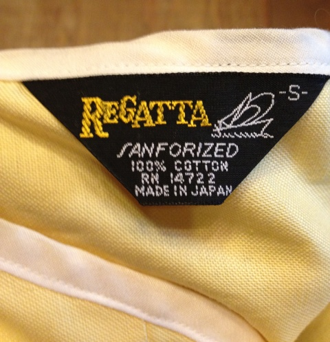 4/29(日)入荷商品! 60'S~デッドストックヘンリーネック REGATTA シャツ!_c0144020_21262638.jpg