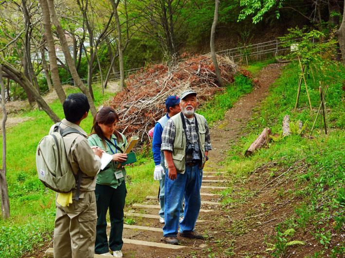 鎌倉市、公園協会と2回目の六国見山現地協議:12・4・25_c0014967_1313441.jpg