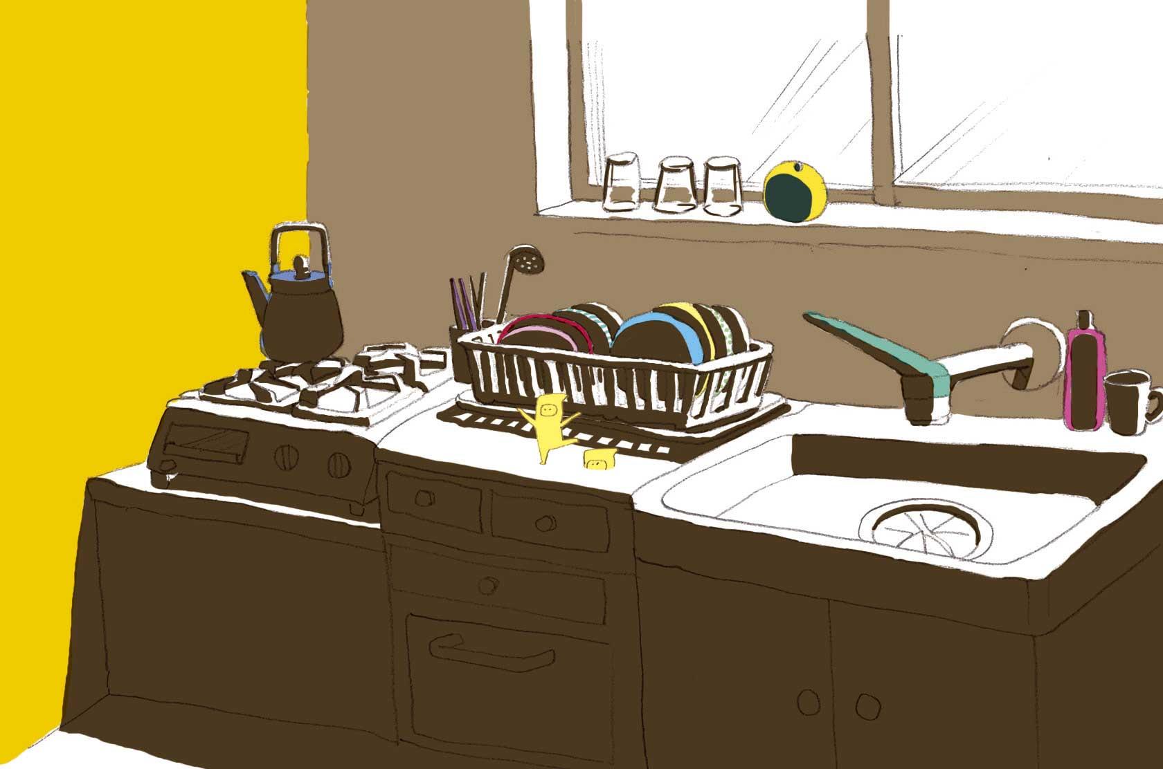 絵 : キッチンの術_d0151007_9482912.jpg