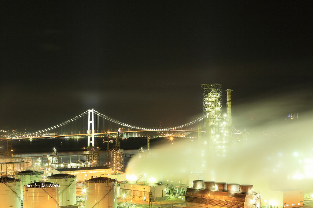 霧の中のスーパーおおぞらあんど室蘭の夜景より~_a0039860_18223474.jpg