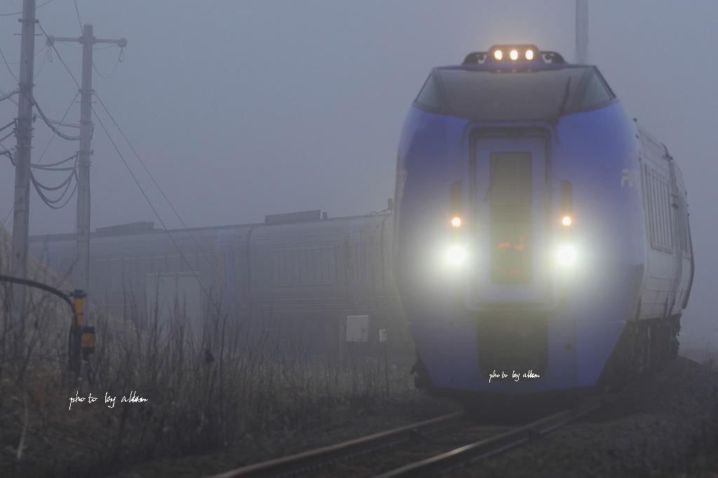 霧の中のスーパーおおぞらあんど室蘭の夜景より~_a0039860_1824945.jpg