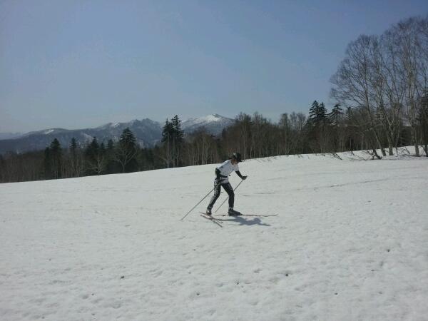 2012.4.30  そらぽん北見峠コースでスキー_d0160199_1043214.jpg