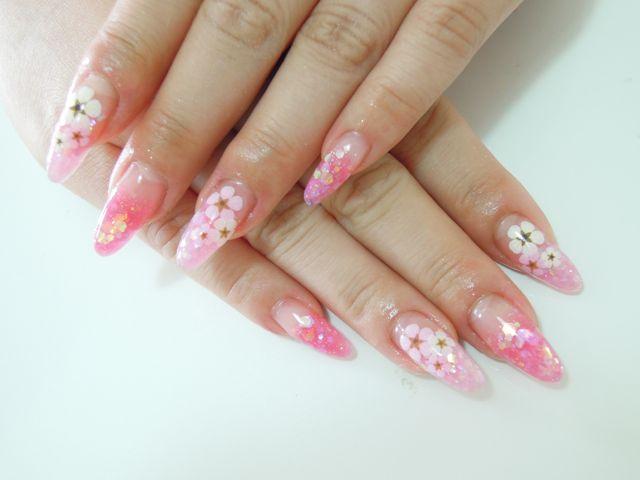Pink Flower Nail_a0239065_15413382.jpg
