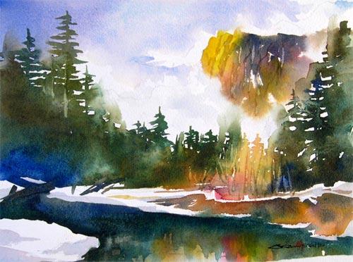 水彩画描き方ビデオ : ちょっと ... : 色塗り 無料 : 無料