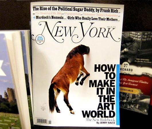 雑誌ニューヨーク・マガジンの「どうやったらアートの世界で成功するか」特集号_b0007805_645386.jpg