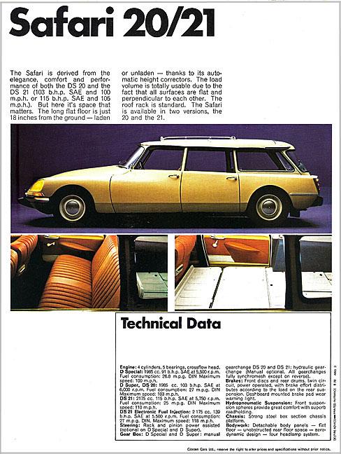 DS21\'71英国版カタログ_b0242510_22542297.jpg