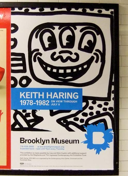 今日のGoogleロゴ、キース・へリングさん作品をニューヨークの街角で見る_b0007805_1234843.jpg