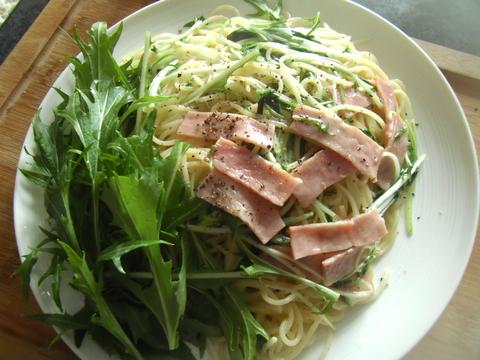 水菜パスタ_d0207324_13175827.jpg