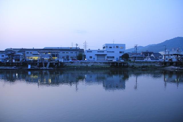 海田町つくも町・明神町の瀬野川沿い夕景_b0095061_8142752.jpg