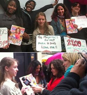 中学生の女の子たちがファッション誌「セブンティーン」のニューヨーク本社前で抗議デモ_b0007805_6183095.jpg