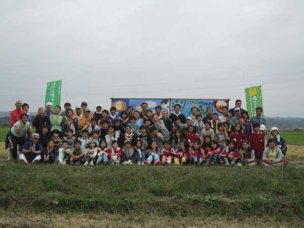 稲刈り体験(緑が丘小・北郷小)_d0247484_17564176.jpg