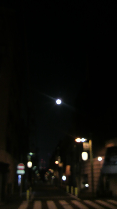 晴れて嵐、綺麗な月_a0075684_233769.jpg