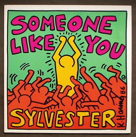 キース・ヘリングのカバー・アート「sylvester Someone Like You」(1986) ガレリア