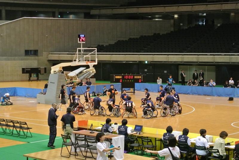 車椅子バスケットボール全日本選手権、3日目の決勝戦_e0089232_19494014.jpg
