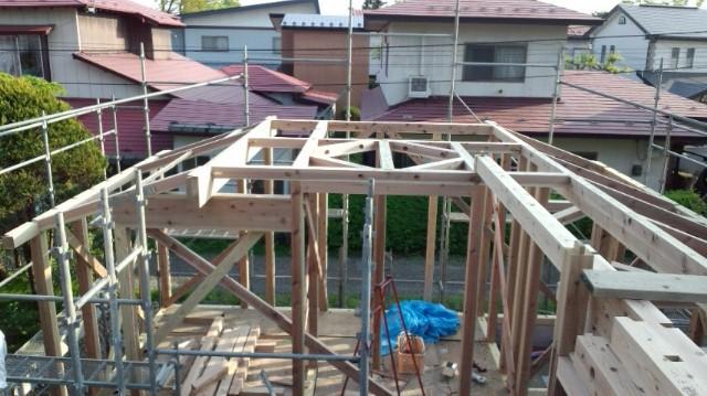 O様邸「南通り築地の家」 工事中です。_f0150893_1926162.jpg