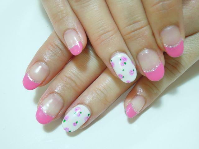 Pink Flower Nail_a0239065_20253394.jpg