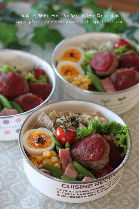 今日のお弁当 ☆ 筍と茄子のコロコロ麻婆丼♪_c0139375_11472451.jpg