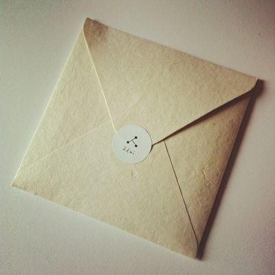 封筒  裏