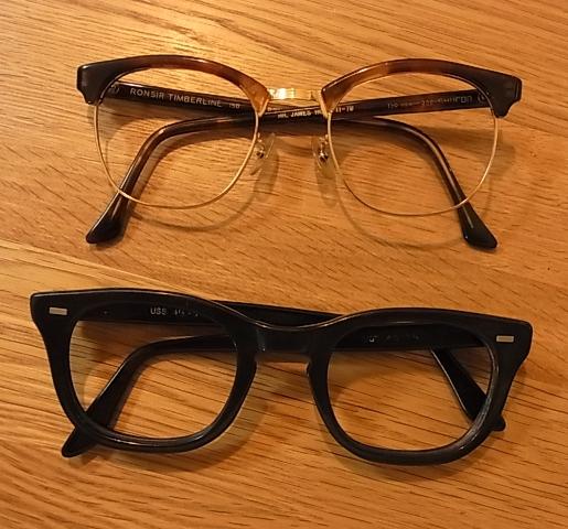ビンテージ シュロン眼鏡フレーム&U.S.Sミリタリーフレーム。_c0144020_14554069.jpg