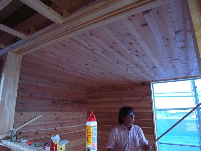 Kさんオートガレージ 木工事中 2012/5/11_a0039934_18323043.jpg