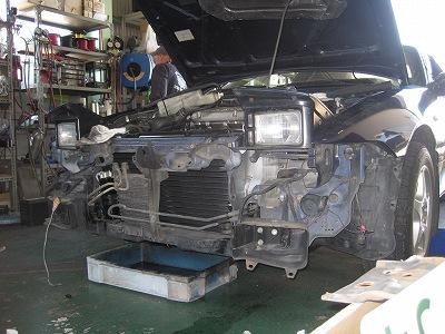 エクリプス エアコン ガス漏れ修理 コンデンサー_e0169210_17195073.jpg