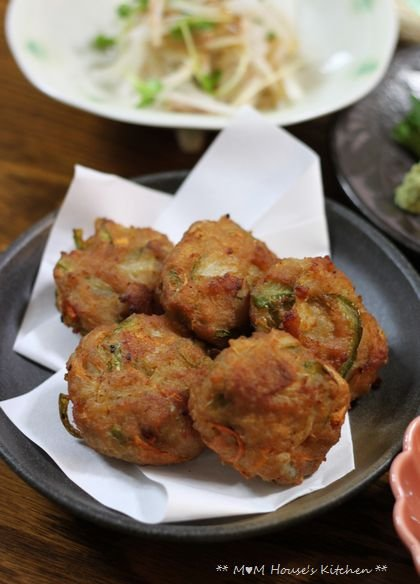 おうち居酒屋 ☆ 野菜たっぷり豚つくね♪_c0139375_11582785.jpg