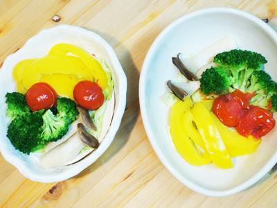 謎のトマト爆発!~レンジで野菜蒸しを作りました。_a0024690_19151574.jpg