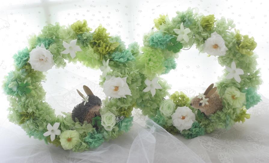 うさぎのリース ご両親への花として 軽井沢高原教会様へ_a0042928_22532424.jpg