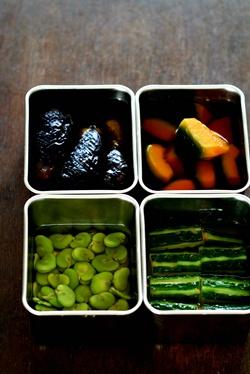 夏のおかずの素 野菜 そして松花堂弁当_b0048834_14275939.jpg