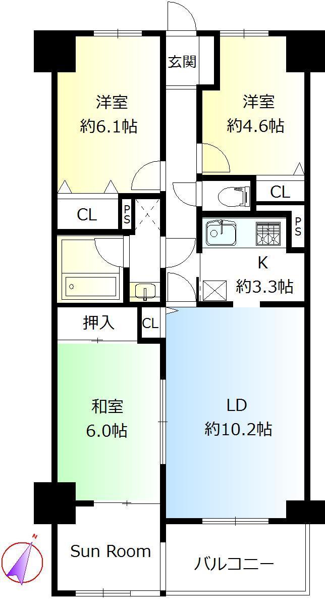 モアステージ一之江(中古マンション)_b0246953_10352652.jpg