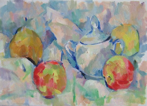 梨とリンゴ(第一段階)_c0236929_16213232.jpg