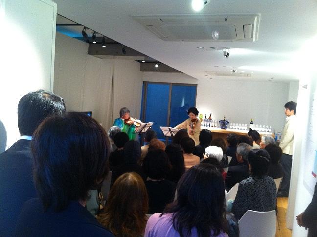 ヴァイオリン・デュエット /奥 忍+香西理子_e0255740_17161568.jpg